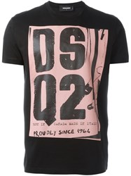 Dsquared2 Punk Logo T Shirt Black