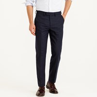 J.Crew Bowery Slim Pant In Chalk Striped Italian Wool