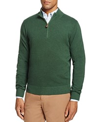 Brooks Brothers Textured Half Zip Sweater Green Heather