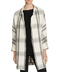 Suncoo Ewa Oversized Check Coat White