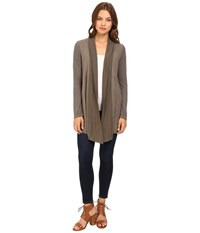 Splendid Heathered Thermal Cardigan Military Olive Women's Sweater