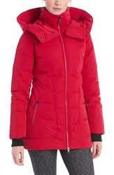Lole Women's 'Nicky' Hooded Insulated Jacket Red Sea Pink
