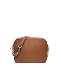 Michael Kors Jet Set Travel Saffiano Leather Crossbody Luggage