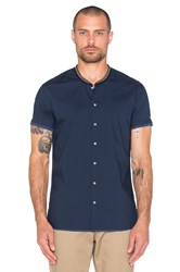 Scotch And Soda Crispy Shortsleeve Shirt Navy