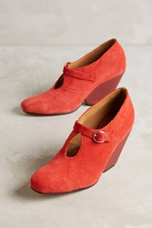 Anthropologie The Palatines Inesco Pumps Red