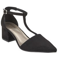 John Lewis Coryn Two Part Pointed Court Shoes Black