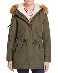 Aqua Canyon Hooded Parka Military