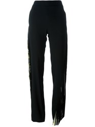 Christopher Kane Fringed Trousers Black