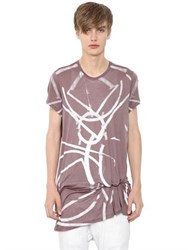 Julius Printed Silk Modal Jersey Long T Shirt