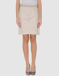 Guess By Marciano Knee Length Skirts Beige