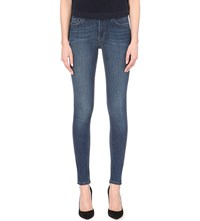 French Connection Rebound High Waist Skinny Jeans Blue