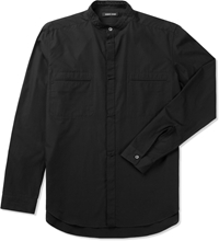 Coal Sable Stand Up Collar Shirt