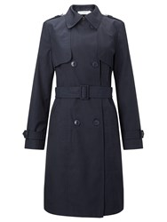 John Lewis Double Breasted Trench Coat Navy