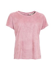 Garcia Faux Suede Perforated Top Pink