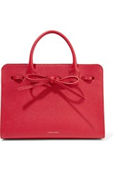 Mansur Gavriel Sun Mini Textured Leather Tote