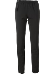 Anthony Vaccarello Slim Fit Trousers Black