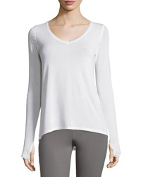 Yummie Tummie Betsey Ribbed Long Sleeve Layering Top White