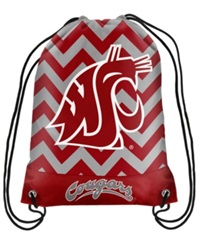 Forever Collectibles Washington State Cougars Chevron Drawstring Backpack Darkred