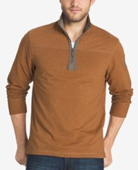 G.H. Bass And Co. Men's Zip Up Pullover Plaza Taupe
