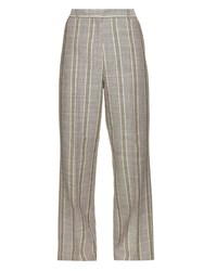 Acne Studios Obel Cotton And Linen Blend Trousers