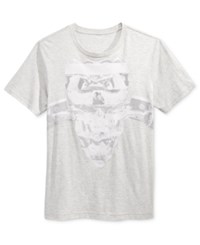 William Rast Men's Graphic Print T Shirt Snow Heather