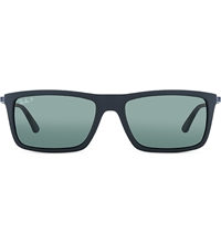 Ray Ban Rb4214 Matte Black Rectangle Sunglasses