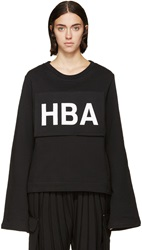 Hood By Air Black Detachable Logo Hoodie