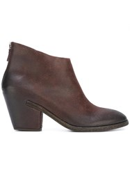 Roberto Del Carlo Zipped Ankle Boots Brown