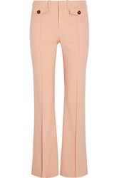 Chloe Stretch Wool Flared Pants Peach