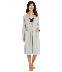 Lauren Ralph Lauren Sweater Knit Ballet Robe Grey Heather Women's Robe Gray