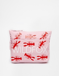 Wildfox White Label Wildfox Lobster Print Clutch Bag Pinkred