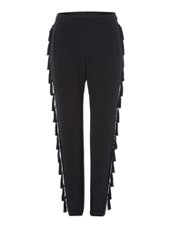 Biba Tassel Detail Slouch Trousers Black