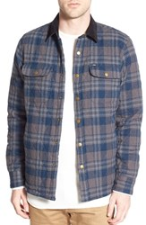 Men's Obey 'Griffin' Quilted Plaid Flannel Shirt Jacket