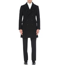 Tom Ford Double Breasted Wool Coat Black