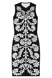 Alexander Mcqueen Intarsia Dress Black
