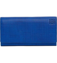 Loewe Continental Leather Wallet Electric Blue