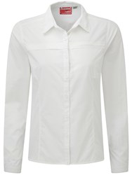 Craghoppers Nosilife Pro Long Sleeved Shirt White