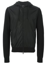 Moncler Two Tone Sweatshirt Black