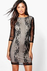 Boutique Ana Lace Open Back Bodycon Dress
