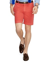 Polo Ralph Lauren Straight Fit Pima Cotton Shorts Red Pepper