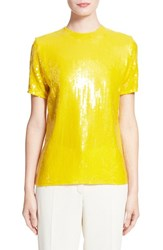 Women's Nina Ricci Short Sleeve Sequin Blouse