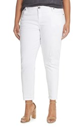 Plus Size Women's Kut From The Kloth 'Adele' Distressed Boyfriend Jeans Optic White