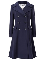 Jacques Vert Fit And Flare Coat Navy
