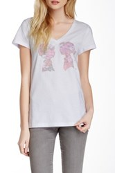 Boy Meets Girl Alice V Neck Tee White