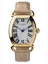 Links Of London Driver Ellipse Large Tan Watch