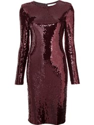 Givenchy Fitted Sequin Dress Red