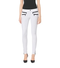 Michael Kors Stretch Cotton Skinny Jeans White