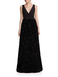 Nha Khanh Flight Of Fancy Textured Gown Black
