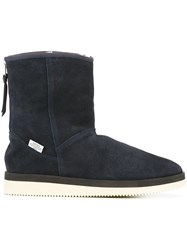 Suicoke Shearling Lined Boots Blue