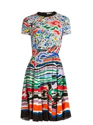 Mary Katrantzou Bixbite Rainbow Cloud Print Dress Multi
